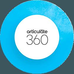 Le logo officiel de la suite de logiciels Articulate 360